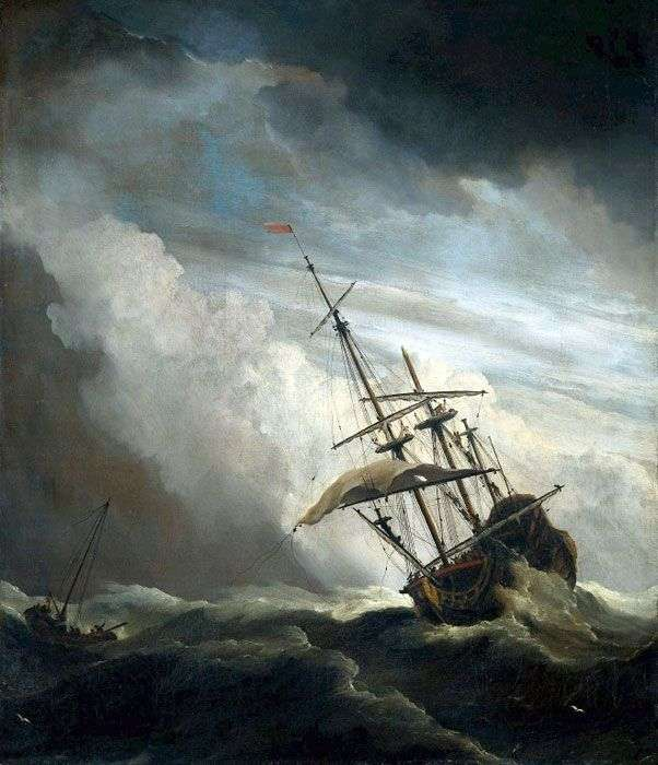 Nave en mar abierto   Willem van de Velde
