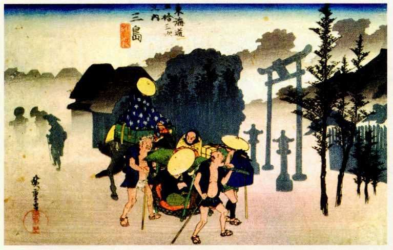 Niebla de la mañana en Misima   Ando Hiroshige
