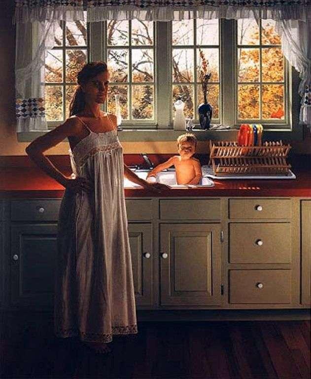 Niñera y Ezra en la cocina – Scott Pryor