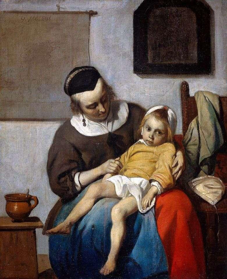 Niño enfermo   Gabriel Metsu