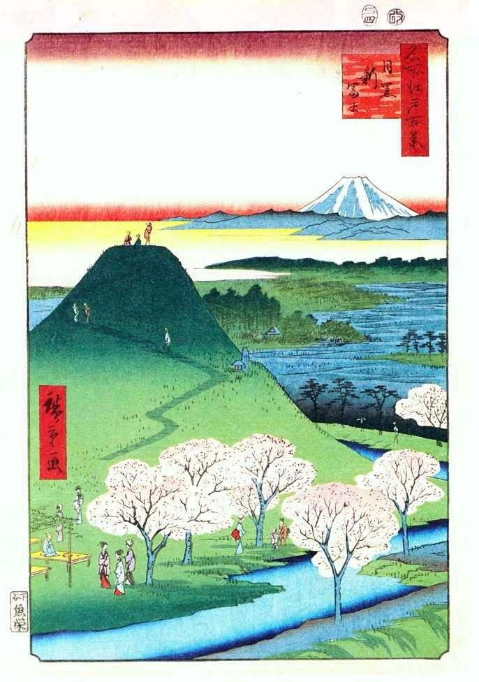 Nuevo Fuji en Meguro   Ando Hiroshige