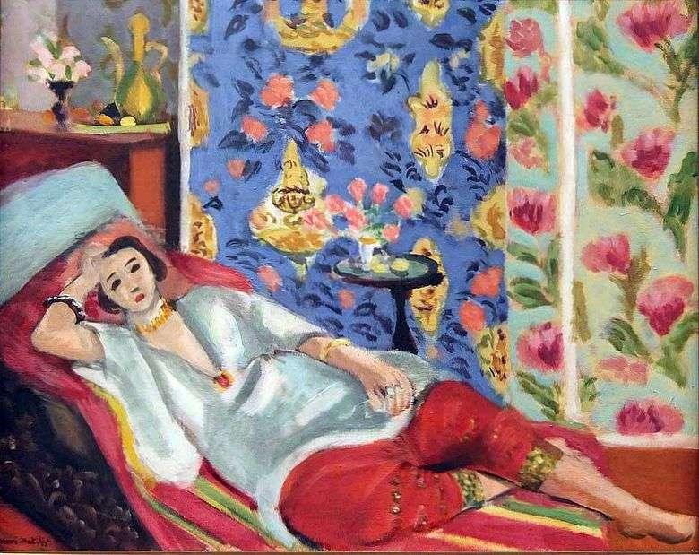 Odalisque en shalvarah rojo   Henri Matisse