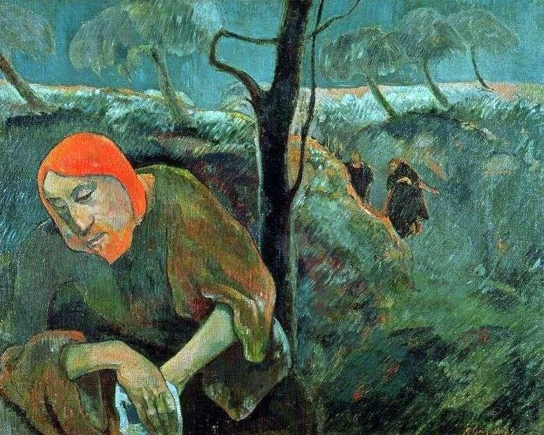 Orando por la copa (Cristo en el jardín de Getsemaní)   Paul Gauguin
