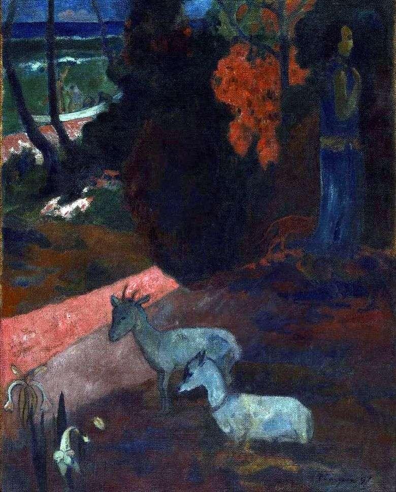 Paisaje con dos cabras   Paul Gauguin