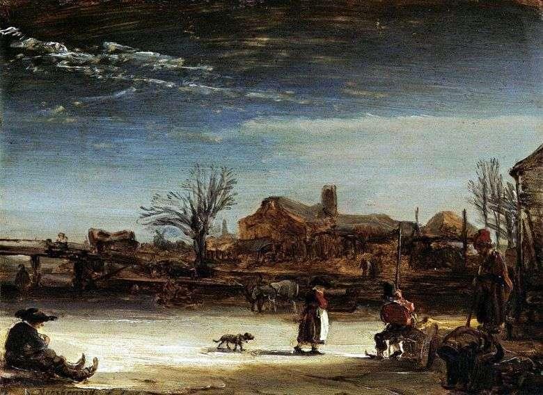 Paisaje de invierno   Rembrandt Harmens Van Rhine