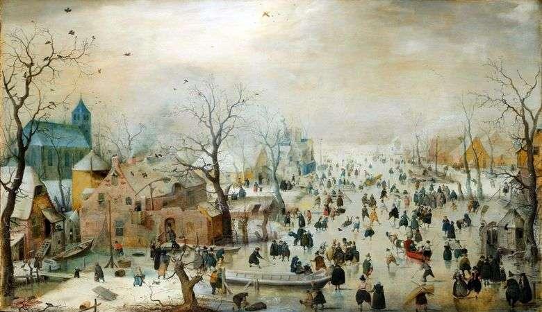 Paisaje invernal con patinaje sobre hielo   Hendrik Averkamp