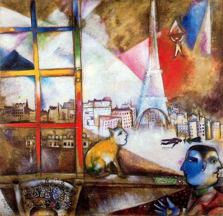 París desde la ventana   Marc Chagall