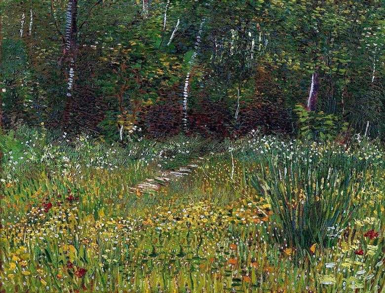Parque en Anyer en la primavera   Vincent van Gogh