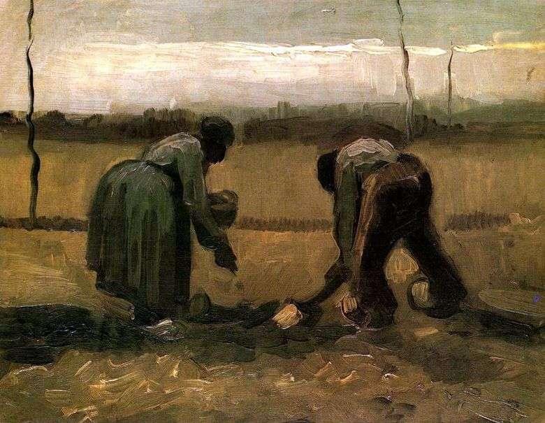 Patatas de siembra de campesinos y campesinos – Vincent van Gogh