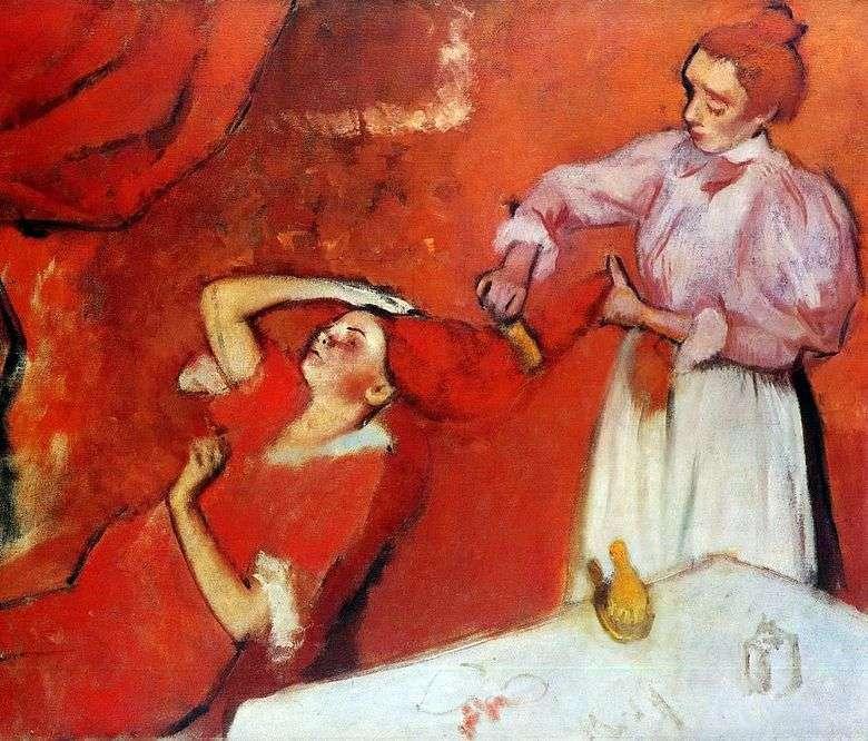 Peinado del cabello   Edgar Degas