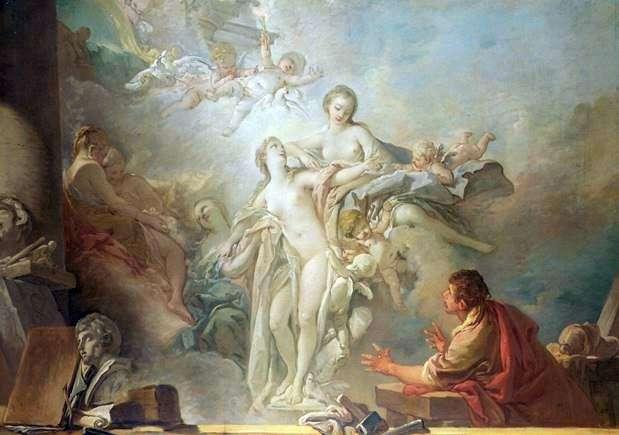 Pigmalión y Galatea   Francois Boucher