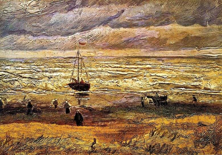 Playa en Scheveningen   Vincent Van Gogh