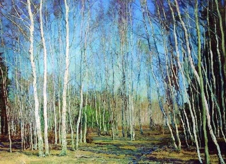 Primavera azul   Vasily Baksheev