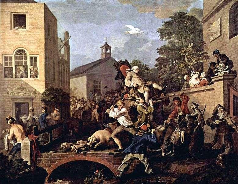 Procesión triunfal   William Hogarth