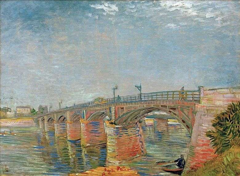 Puente sobre el Sena en Anyer   Vincent van Gogh