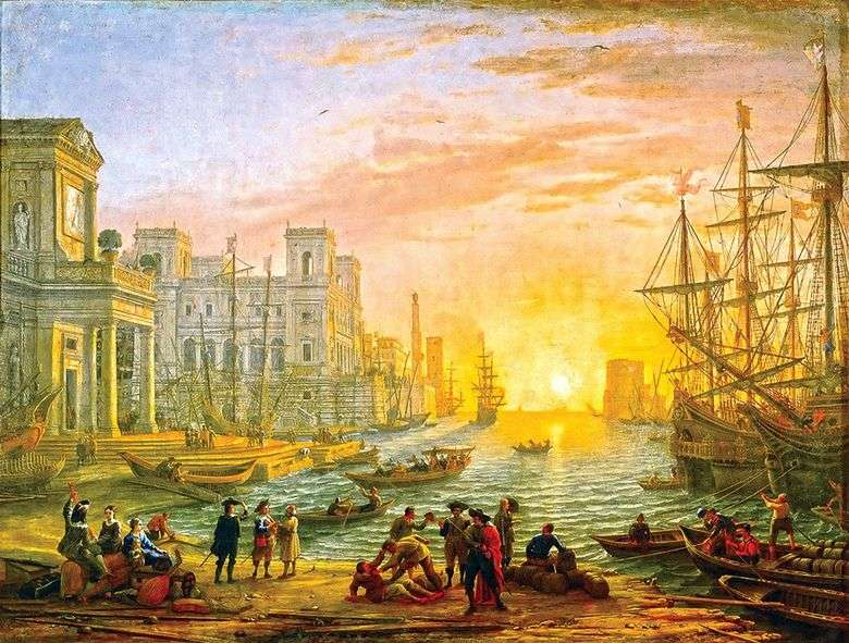 Sea Harbor at Sunset   Claude Lorrain