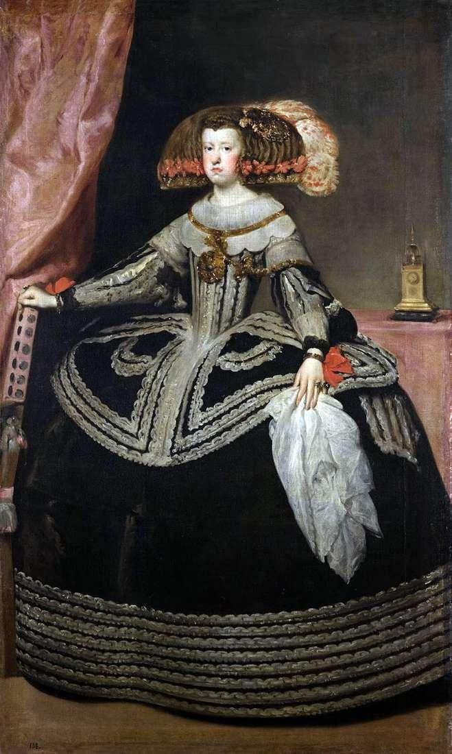 Reina Maria Anna de Austria   Diego Velásquez