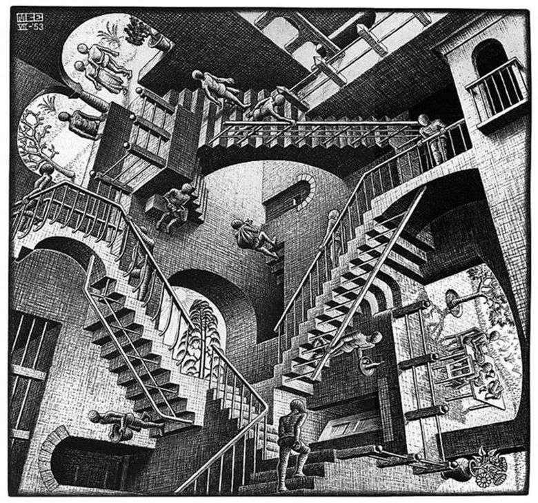 Relatividad   Maurits Escher