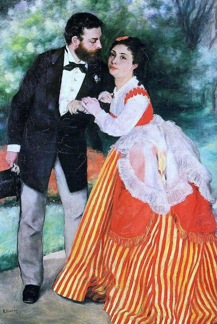 Retrato de A. Sisley con su esposa   Pierre Auguste Renoir