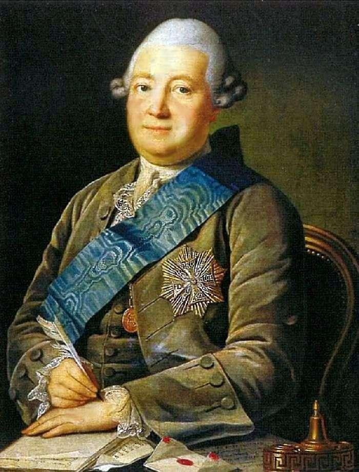 Retrato de Adam Vasilyevich Olsufiev   Karl Ludwig Christenak