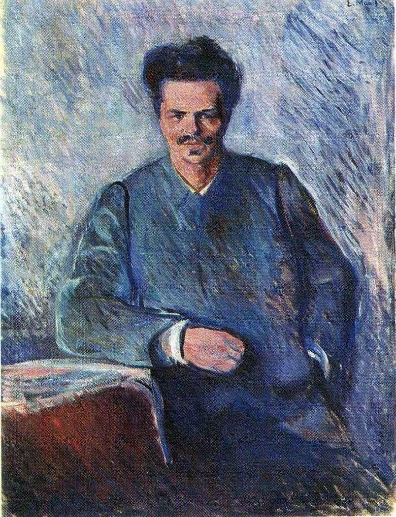 Retrato de Augustus Strindberg   Edvard Munch