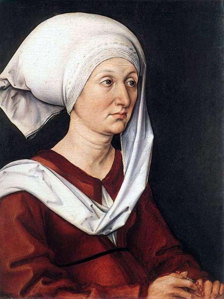 Retrato de Barbara Dürer   Albrecht Dürer