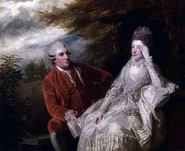 Retrato de David Garrick y Eva Maria Garrick   Reynolds Joshua