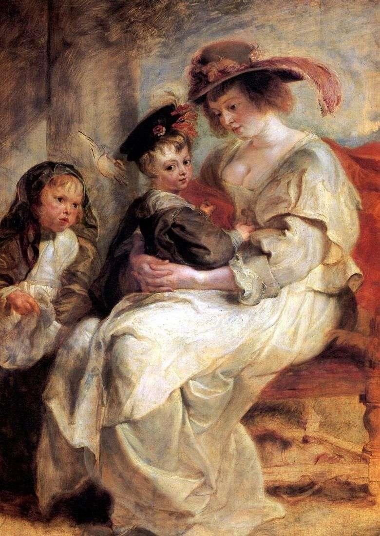 Retrato de Elena Fourman con dos niños   Peter Rubens