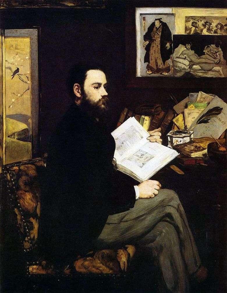 Retrato de Emile Zola   Edouard Manet
