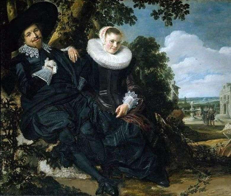 Retrato de familia de Isaac Massa y su esposa   Frans Hals