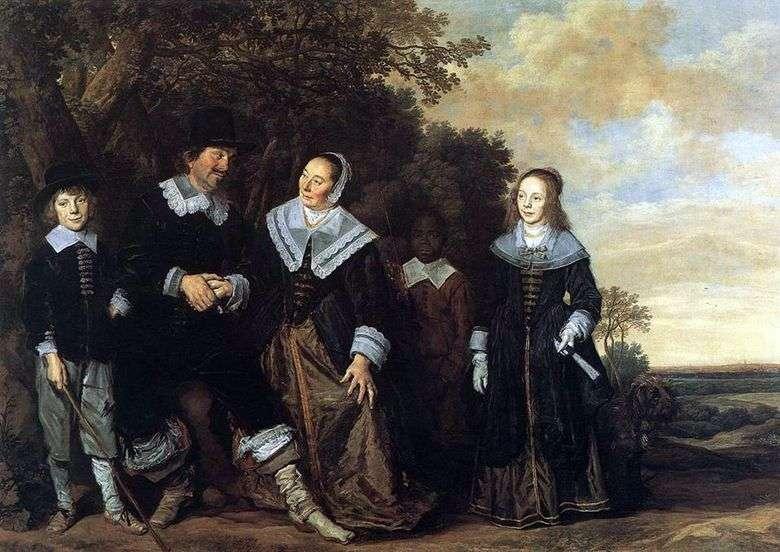 Retrato de familia en el paisaje   Frans Hals