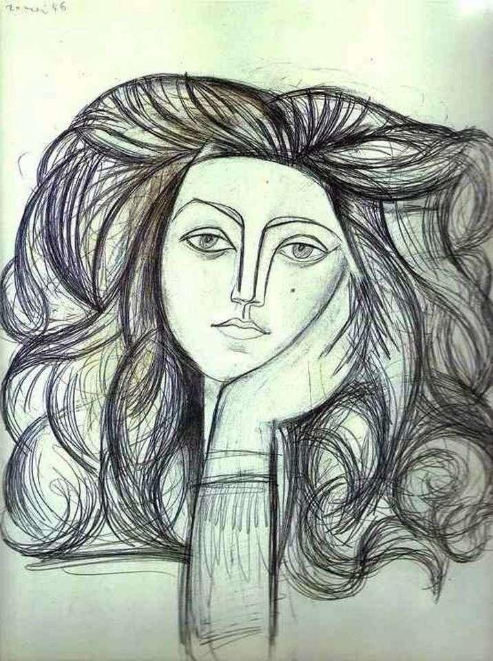 Retrato de Francoise   Pablo Picasso
