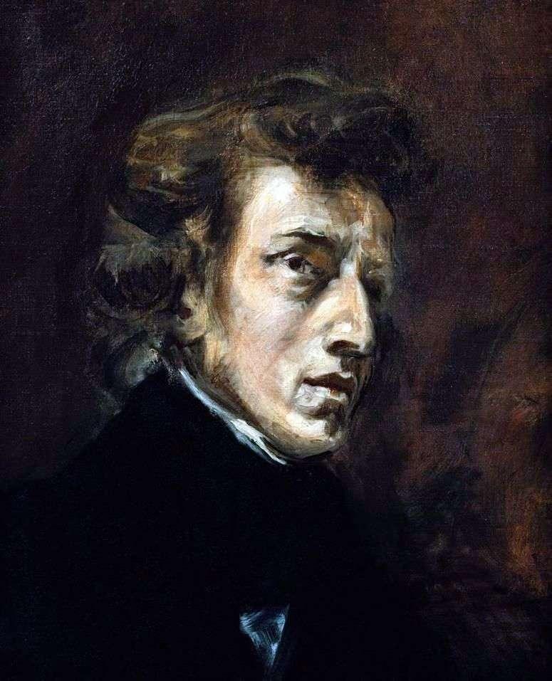 Retrato de Frederic Chopin   Eugene Delacroix