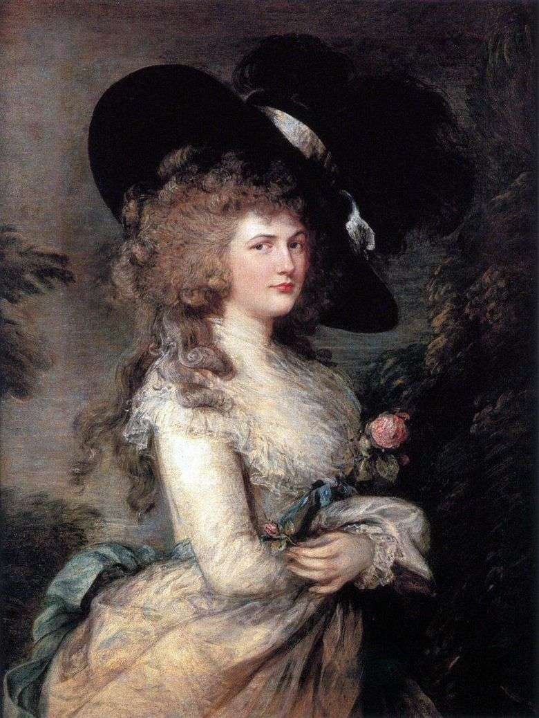 Retrato de Georgiana, duquesa de Devonshire   Thomas Gainsborough