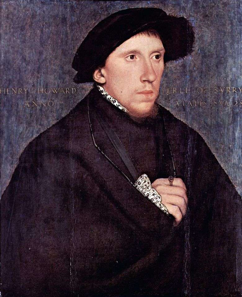 Retrato de Henry Howard   Hans Holbein