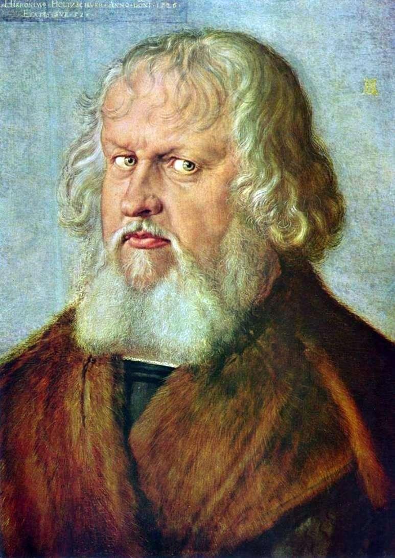 Retrato de Jerome Holtschuera   Albrecht Durer