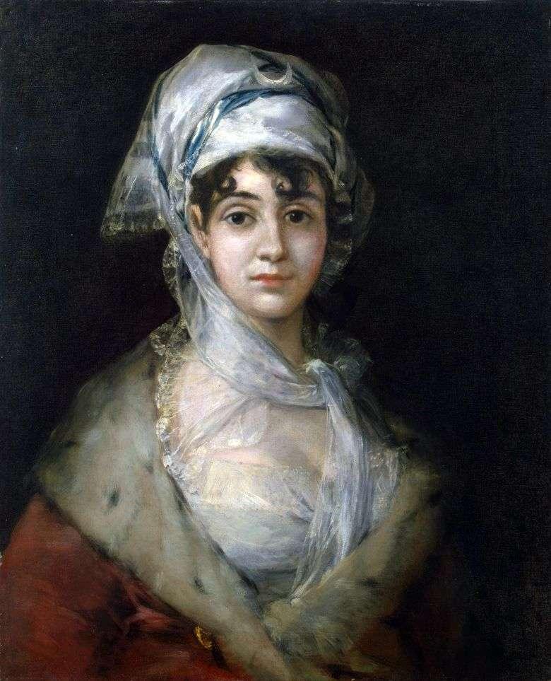 Retrato de la actriz Antonia Zarate   Francisco de Goya