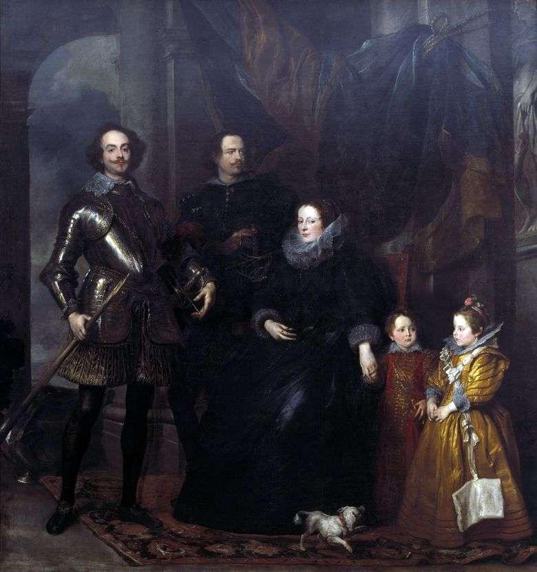 Retrato de la familia Lomellini   Anthony Van Dyck