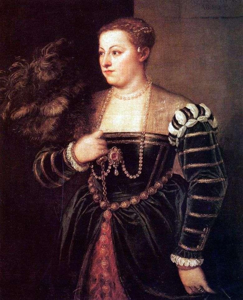 Retrato de la hija de Titian Lavinia   Titian Vecellio