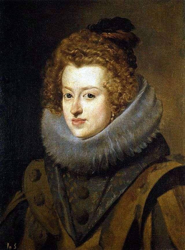 Retrato de la infanta Maria Anna de la reina española de Hungría   Diego Velásquez