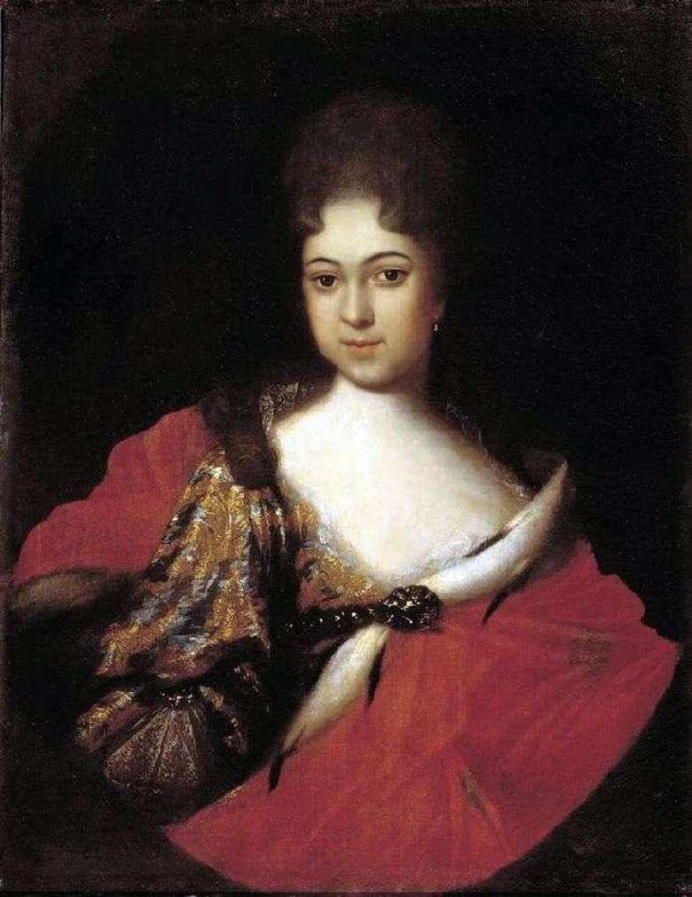 Retrato de la princesa Praskovya Ioannovna   Ivan Nikitin