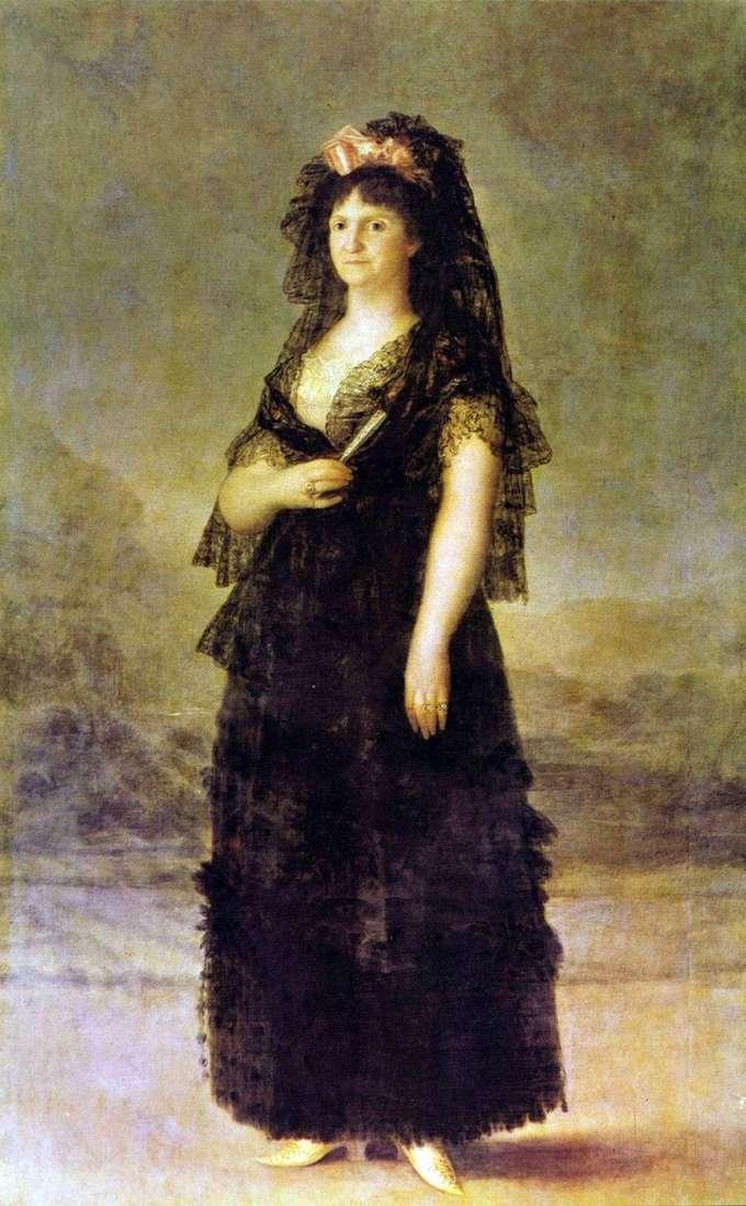 Retrato de la reina Maria Louise Parma   Francisco de Goya