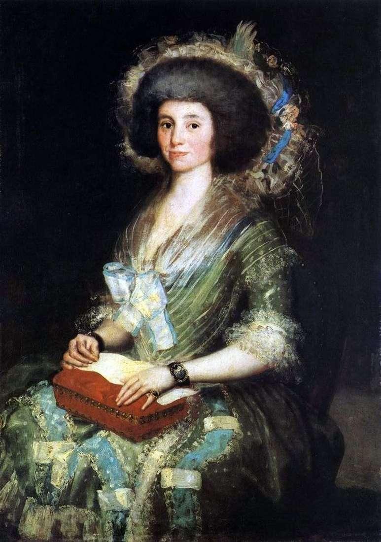 Retrato de la señora de Sean Bermúdez   Francisco de Goya