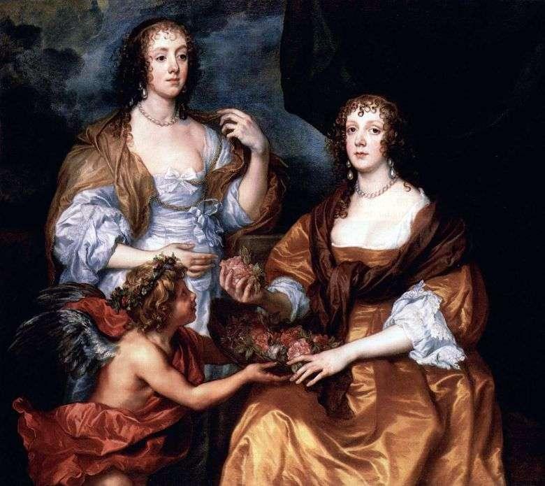 Retrato de Lady Elizabeth Timblbi y Dorothy Viscountess Andover   Anthony Van Dyck