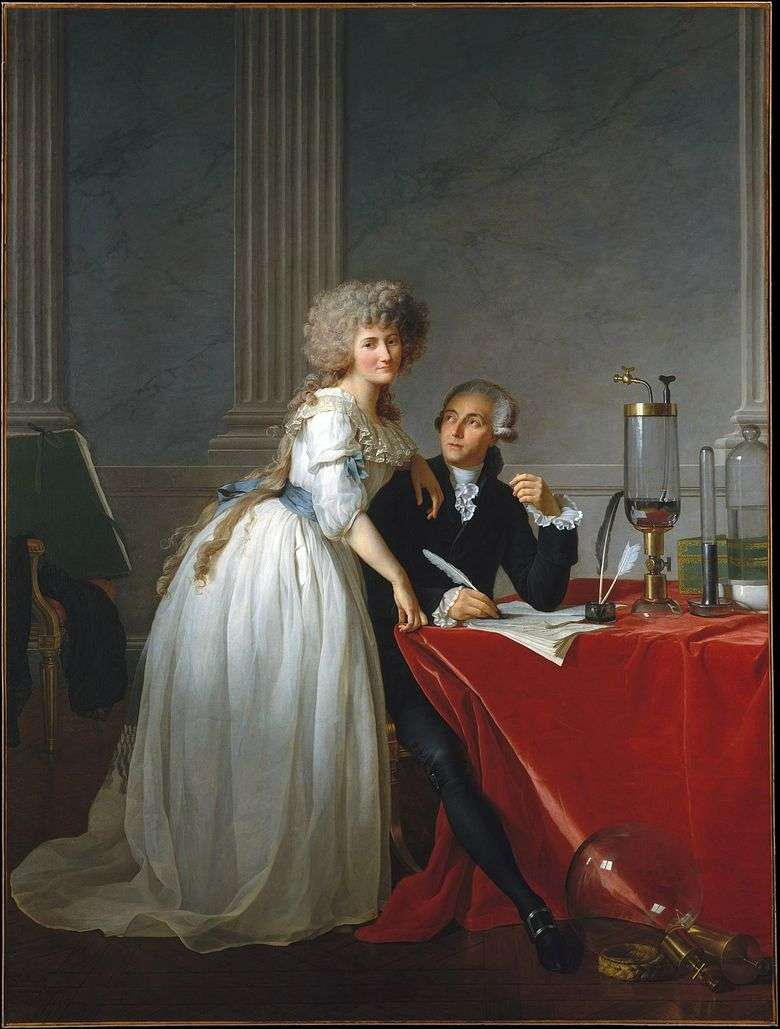 Retrato de Lavoisier y su esposa Marie Anne   Jacques Louis David