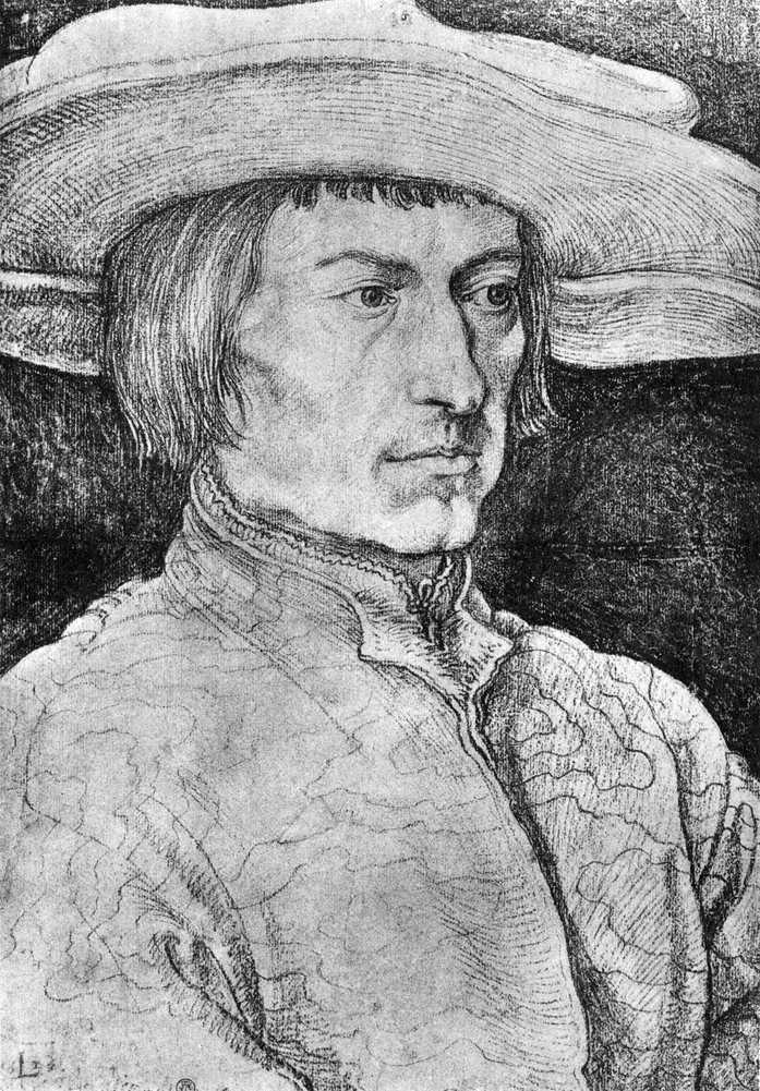 Retrato de Lucas van Leiden   Albrecht Durer