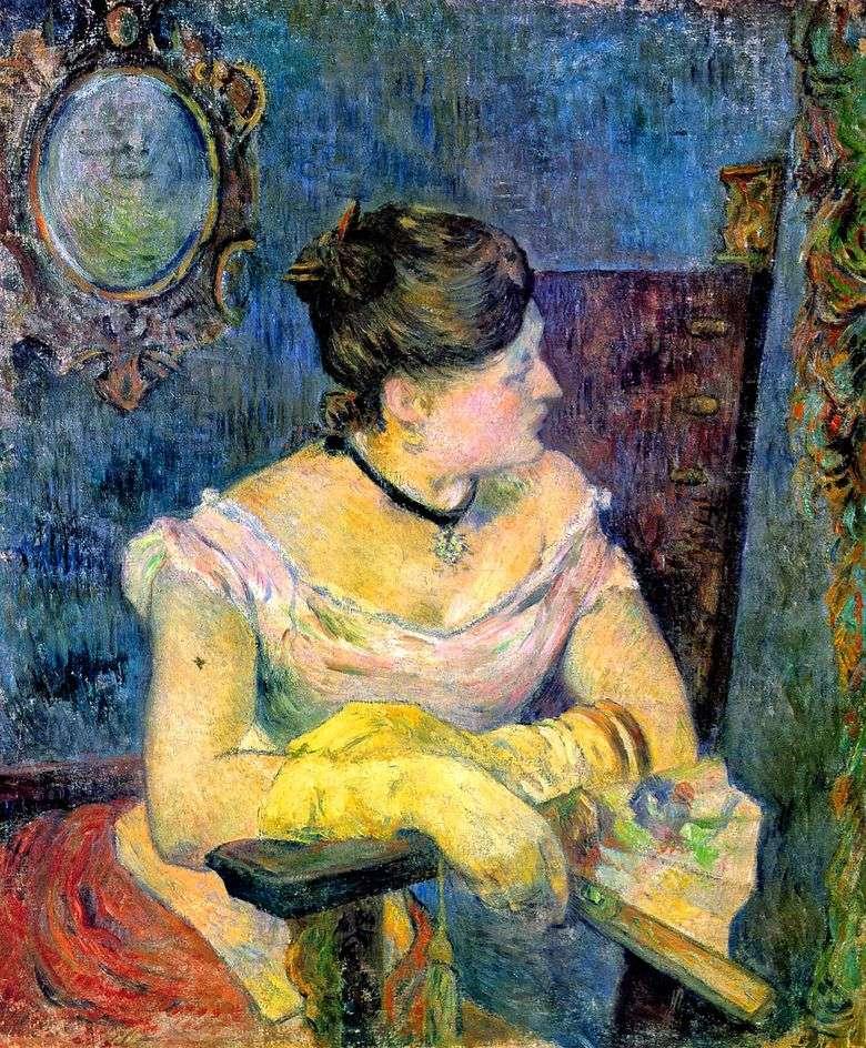 Retrato de Madame Gauguin en un vestido de noche   Paul Gauguin