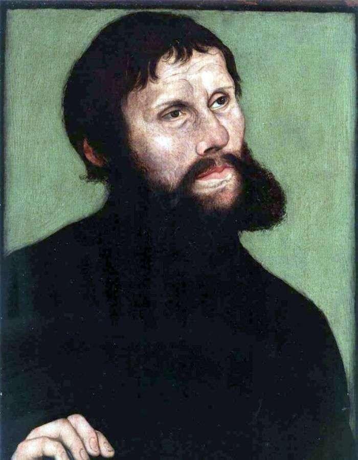 Retrato de Martín Lutero en la forma del caballero Jorg   Lucas Cranach