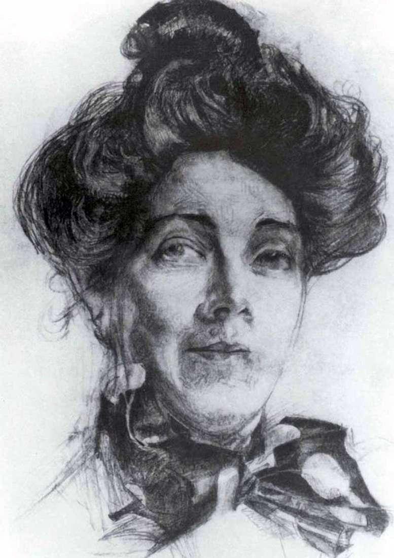 Retrato de N. I. Zabely   Mikhail Vrubel