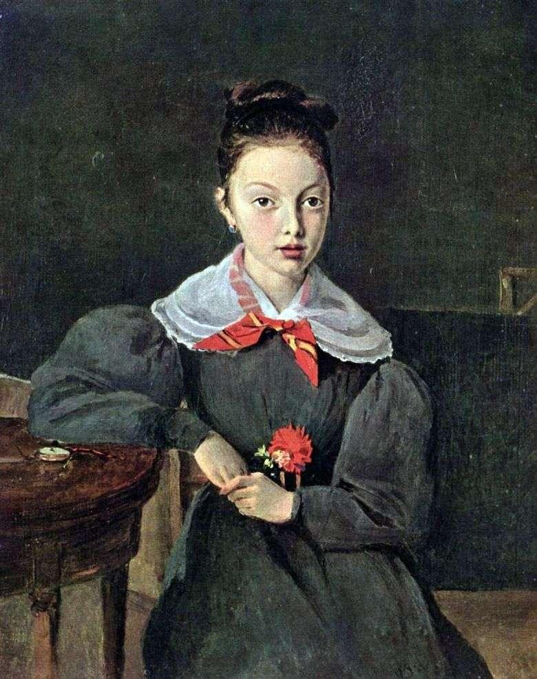Retrato de Octavia Sennegon   Camille Corot